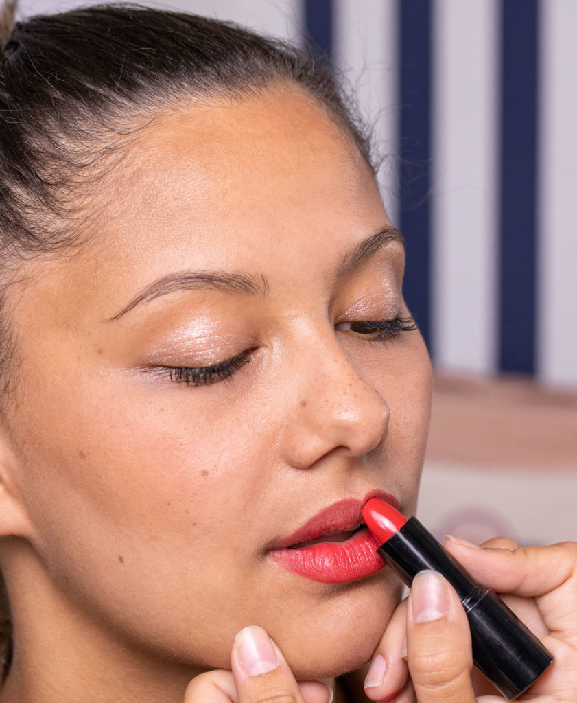 tutoriel maquillage bisou rouge à lèvres Le French Make-up
